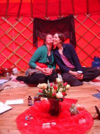 Brighton Red Tent and Red Yurt