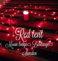 Red tent – Moon lodge, Borlange, Sweden
