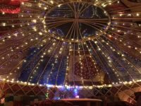 Our beautiful red tent Yurt